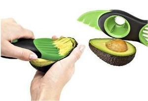 3-in-1 Avocado Slicer with Serrated Blade, Pit Remover, and Fan Blade  - UntilGone.com
