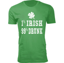Men's Funny St. Patrick's Day T-Shirts Shirts & Tops 1% IRISH 99% DRUNK - Small