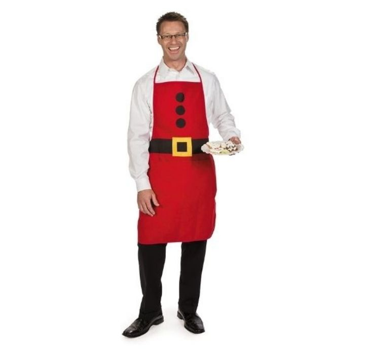 Adult Santa Fabric Apron Christmas Apparel
