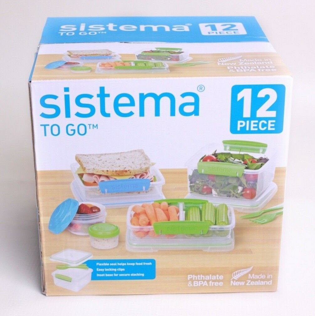 Sistema To Go Food Storage Sets (3 Packs of 12-Piece Sets)