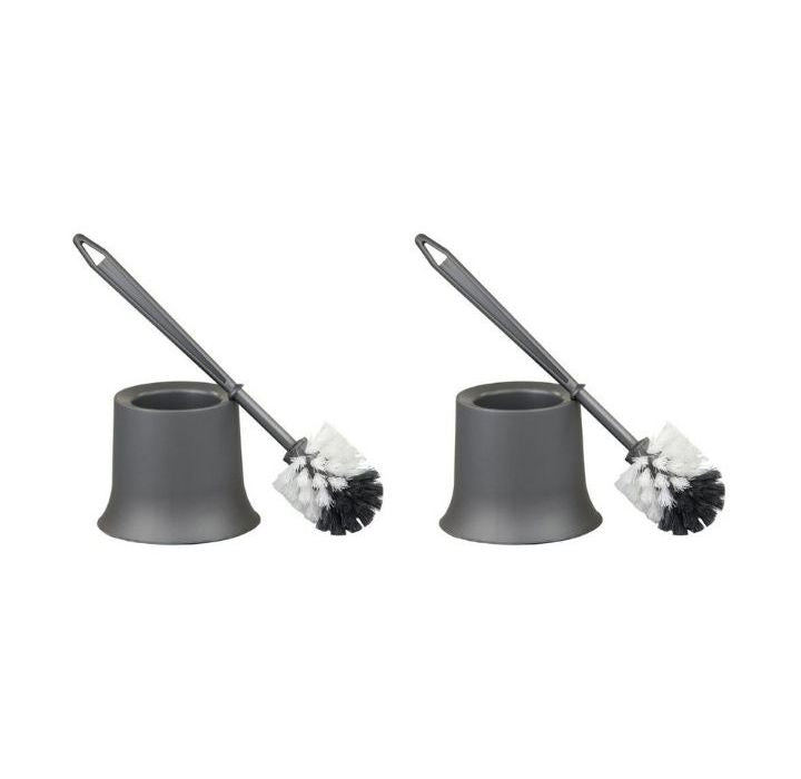 Home Basics Grey Toilet Brush Holders (Pack of 2)
