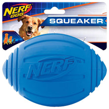 [2-Pack] Nerf Dog Toy Football with Squeaker (Blue Size Medium) Dog Toys