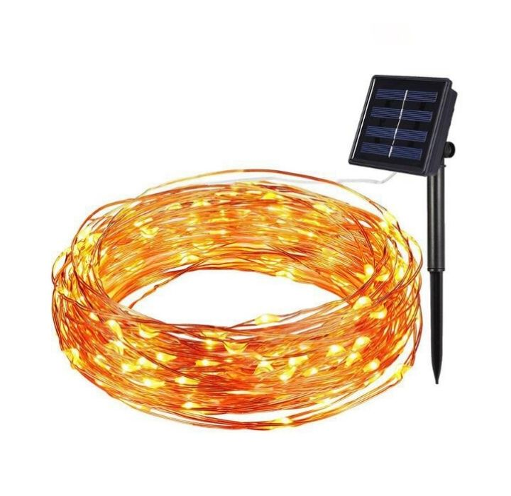 Solar Powered 100 LED Outdoor String Lights