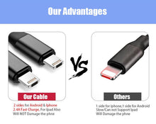 [2-Pack] 2-in-1 Reversible Lightning & Micro USB Dual Interface Cable  - UntilGone.com