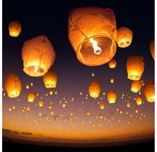 Biodegradable White Chinese Sky Lanterns [50-Pack] Wedding Favors