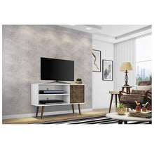 Manhattan Comfort Liberty Mid-Century TV Stands – 10 Color Styles Entertainment Centers & TV Stands
