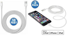 [3-Pack] 10-Foot Apple MFi-Certified Lightning Cables