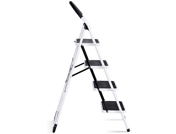 Daily Deals 4-Step 330-lb Capacity Folding Ladder Step Stools