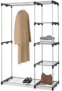 68-Inch Closet Organizer - Portable Clothes Hanger & Storage Rack