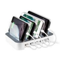 Surgit 4-Port USB Rapid Charging Station for Smartphones & Tablets Power Adapters & Chargers
