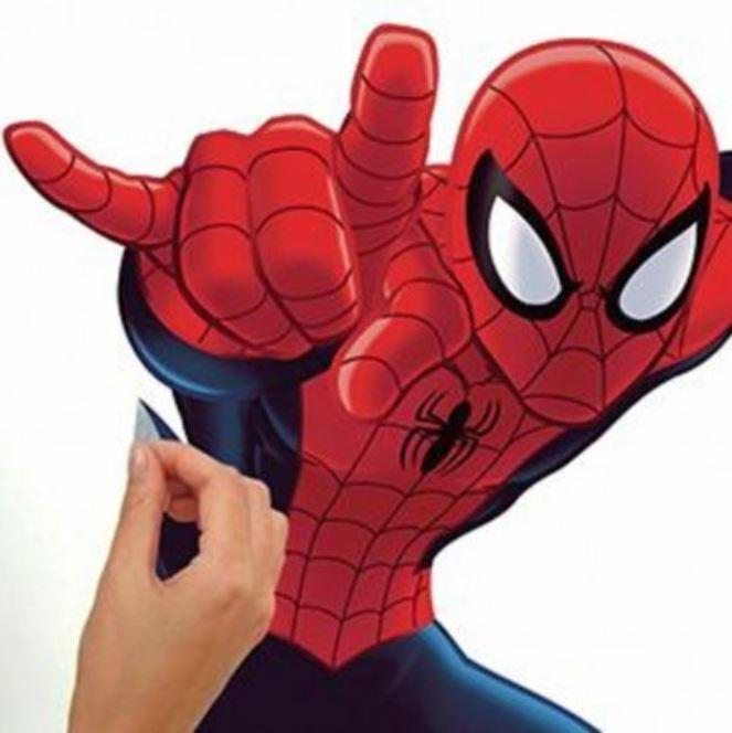 Marvel Giant Peel & Stick Wall Decals – Spider-Man, Iron Man, or Captain America Home Decor Decals