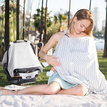 2-in-1 Chevron Pattern Baby Car Seat Cover And Nursing Blanket  - UntilGone.com