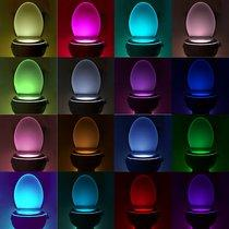 Motion-Activated Color Changing LED Toilet Bowl Light with 16-Colors  - UntilGone.com