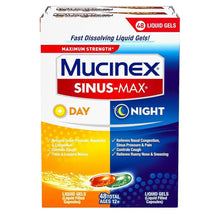 [2-Pack] Mucinex Sinus-Max Day and Night Liquid Gels (48 Count Capsules)  - UntilGone.com