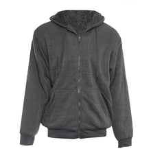 Men's Extra Thick Sherpa-Lined Full Zip Hoodies - 4 Colors Coats & Jackets Charcoal - Small