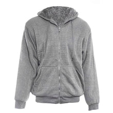 Men's Extra Thick Sherpa-Lined Full Zip Hoodies - 4 Colors Coats & Jackets Heather Gray - Small
