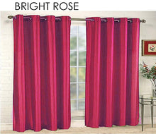[2-Panels] Mira Solid Faux Silk Curtains with Grommets  - UntilGone.com