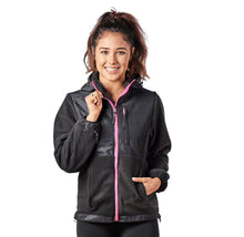 Alta Women's Two-Tone Full-Zip Fleece Jacket – Multiple Colors Coats & Jackets Black/Pink - XXL