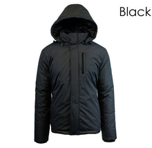 Men's Heavy Weight Water Resistant Tech Jacket with Detachable Hood Coats & Jackets Black - Small
