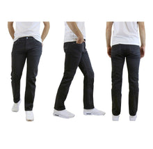 Men's Straight Leg Jeans with Stretch Fit Pants Black - 30X30