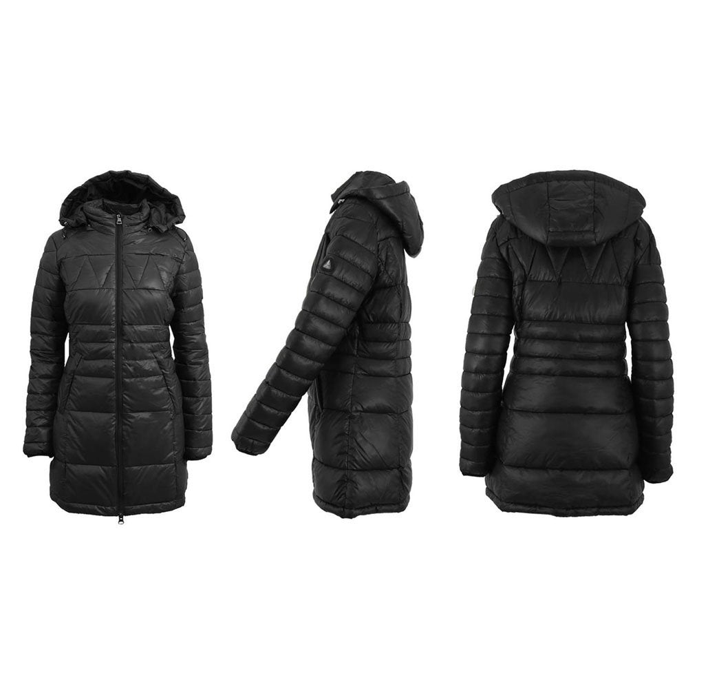 Women's Silhouette Style Puffer Jacket - 5 Colors Black - X-Small - UntilGone.com