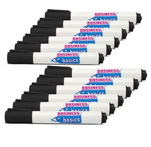 [12-Pack] Business Basics Dry Erase Board Markers - Black, Blue, or Red Markers & Highlighters Black