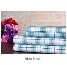 Bibb Home Holiday & Winter Printed 100% Cotton Flannel Sheet Set Twin - Blue Plaid - UntilGone.com