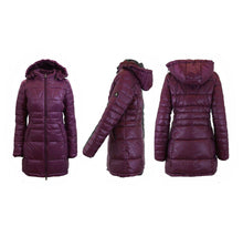 Women's Silhouette Style Puffer Jacket - 5 Colors Burgundy - X-Small - UntilGone.com