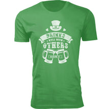 Men's Funny St. Patrick's Day T-Shirts Shirts & Tops Drinks Well With Others - Small