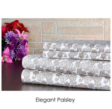 Bibb Home Holiday & Winter Printed 100% Cotton Flannel Sheet Set Twin - Elegant Paisley - UntilGone.com