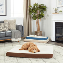 Deluxe Orthopedic Pet Bed with Sherpa and Suede Cover  - UntilGone.com