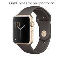 Apple Watch Gen 2 Series 1 Smartwatch – Choose 38mm or 42mm Styles 42mm Gold Case Cocoa Sport Band - UntilGone.com