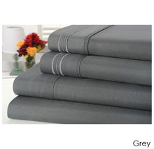 Bamboo Comfort 3 Line 1800 Count Egyptian Quality 4 Piece Bed Sheet Set - 6 Colors Twin - Grey - UntilGone.com