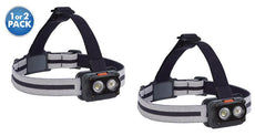 [3-Pack] Outdoor Nation 7-LED Headlamp with White & Red Lighting