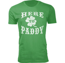 Men's Funny St. Patrick's Day T-Shirts Shirts & Tops Here To Paddy - Small