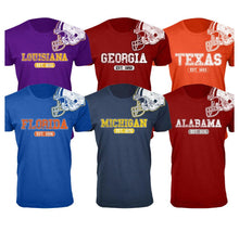 Men's 100% Cotton College Football Helmet T-Shirts  - UntilGone.com