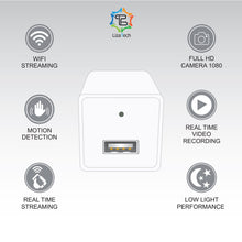 LizaCam USB Wall Plug with 1080p HD Hidden IP Camera & Free iOS/Android Viewing App  - UntilGone.com