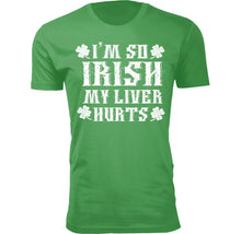 Men's Funny St. Patrick's Day T-Shirts Shirts & Tops I'm So IRISH My Liver Hurts - Small