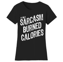 Women's Gym Workout Humor Funny T-Shirts Shirts & Tops Sarcasm - Bl/Wh Print / Small