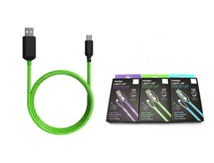 [2-Pack] PowerXcel Light-Up Micro USB Charge & Sync Cable  - UntilGone.com