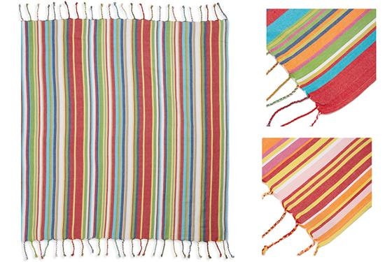 Luxury Woven Fringe Beach Roll-Up Blanket with Carrying Strap – 3 Styles Outdoor Blankets