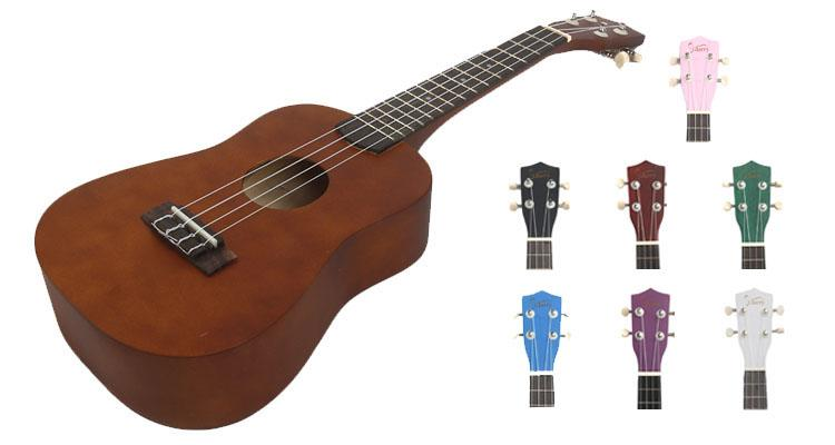 "23"" Basswood Concert Ukulele with Rosewood Fingerboard and Carrying Bag – 8 Colors String Instruments"