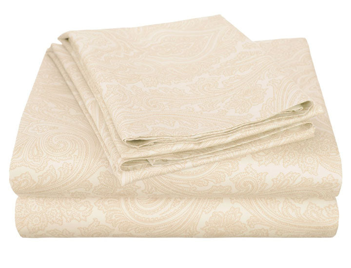 Italian Paisley Cotton-Rich Sheet Set