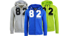 Mens Fleece Zip Hoodie With Thermal Hood Coats & Jackets