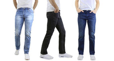Men's Straight Leg Jeans with Stretch Fit