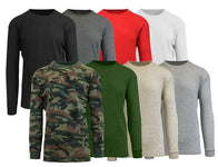 Men's Waffle-Knit Cotton Blend Thermal Shirt