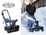 "Snow Joe 18"" Hybrid Snow Blower - 40V Battery Cordless or Corded Operation"