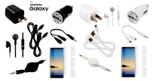[10-Piece] Accessory Starter Bundle for Samsung Galaxy Phones – Black or White  - UntilGone.com