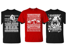Ugly Christmas Sweater Men's T-Shirts II Beer Disappear / Black / SM - UntilGone.com