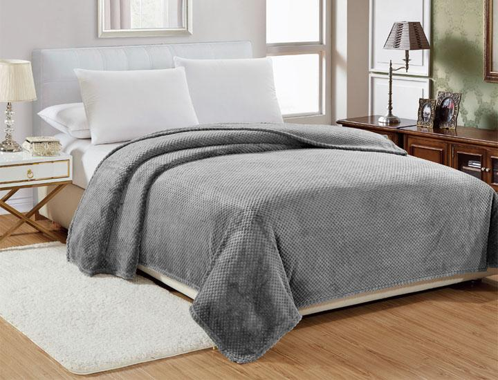 Sheradian Popcorn Textured Microplush Blanket